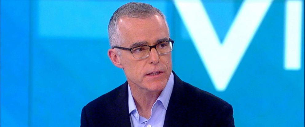 "PHOTO: Andrew McCabe appears on ""The View,"" Feb. 19, 2019."