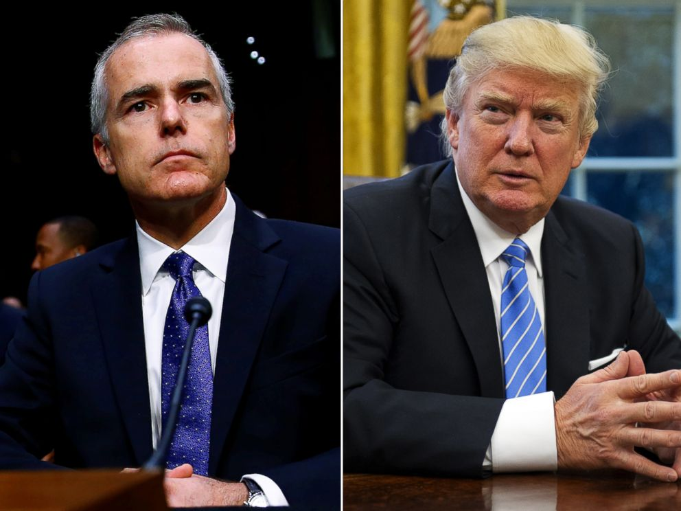 PHOTO: Pictured (L-R) are Acting FBI Director Andrew McCabe and President Donald Trump.