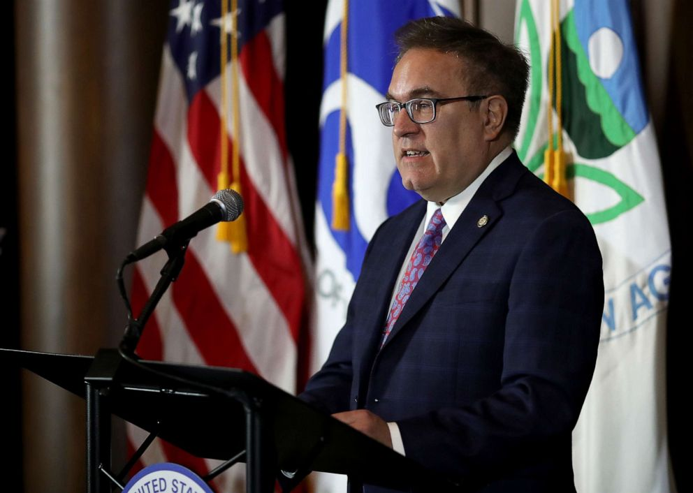 PHOTO: Environmental Protection Agency Administrator Andrew Wheeler makes a policy announcement at EPA headquarters September 19, 2019, in Washington, D.C.
