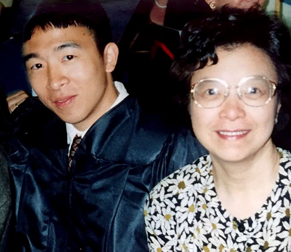PHOTO: Andrew Yang and his mother Nancy in an undated photo.