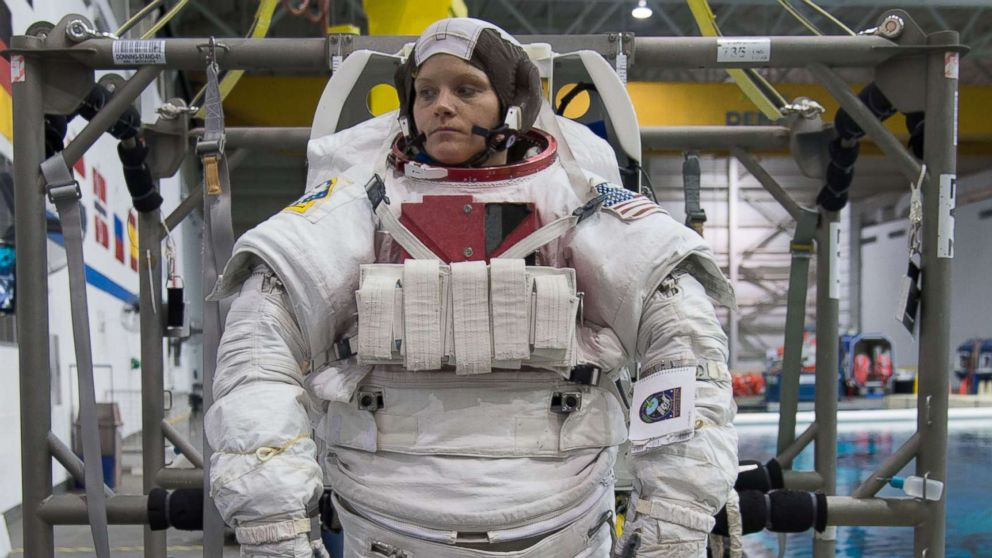 Astronaut Anne McClain during training.