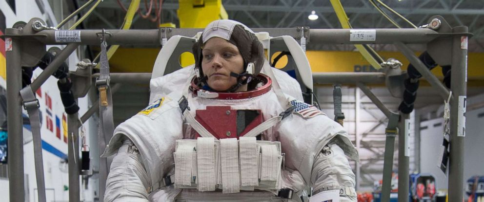 PHOTO: Astronaut Anne McClain during training.