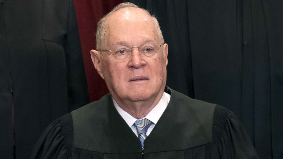 Supreme Court Associate Justice Anthony M. Kennedy sits for an official photo with other members of the US Supreme Court, June 1, 2017.
