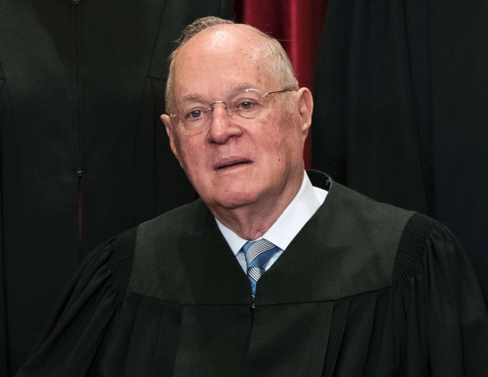 Supreme Court Associate Justice Anthony M. Kennedy participates in group portrait at the Supreme Court Building in Washington, D.C., June 1, 2017.