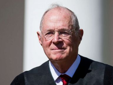 PHOTO: U.S. Supreme Court Associate Justice Anthony Kennedy is seen during a ceremony in the Rose Garden at the White House, April 10, 2017, in Washington, D.C.