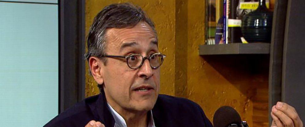 "PHOTO: Antonio Lucio is interviewed for ABC Radios ""Uncomfortable"" podcast."
