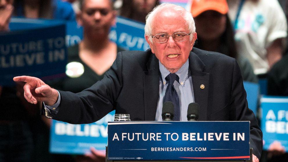 Democratic presidential candidate, Sen. Bernie Sanders speaks at a campaign stop, April 21, 2016, in Scranton, Pa.