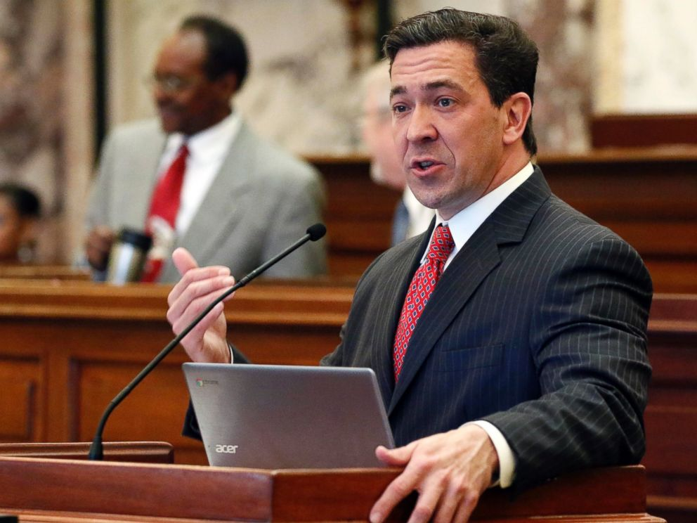 In this Tuesday, March 7, 2017, file photo, state Sen. Chris McDaniel, R-Ellisville, speaks during a floor debate in Jackson, Miss. McDaniel is hinting strongly that he will challenge U.S. Sen. Roger Wicker in the 2018 U.S. Senate race.