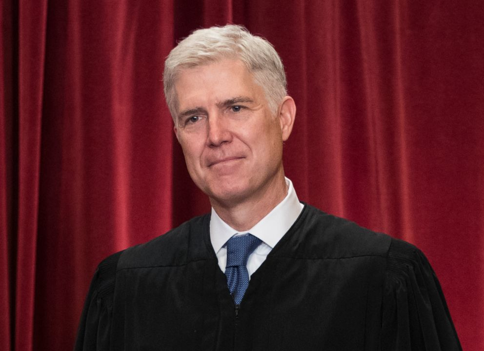 PHOTO: In this file photo, Supreme Court Associate Justice Neil Gorsuch, June 1, 2017, is seen during an official group portrait at the Supreme Court Building in Washington, D.C.