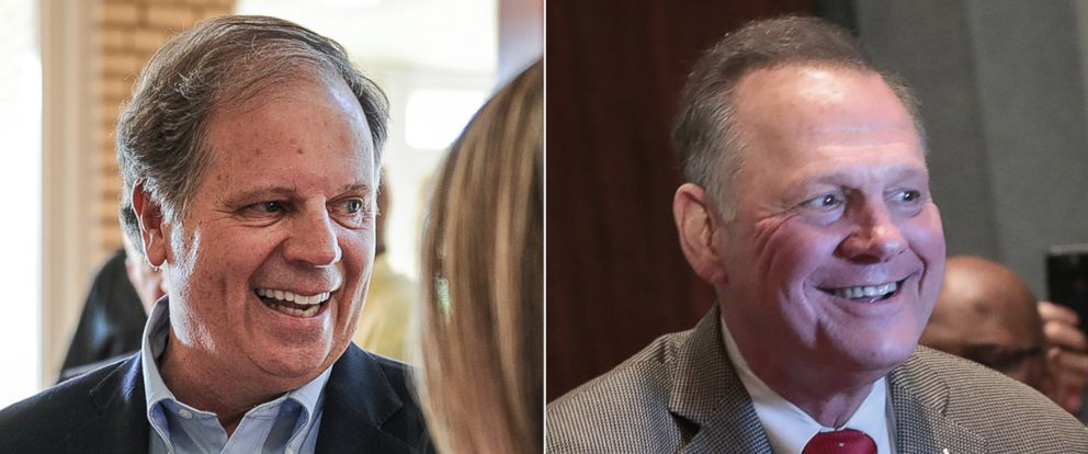 PHOTO: The Alabama Senate race now pits Democrat Doug Jones against Republican Roy Moore.