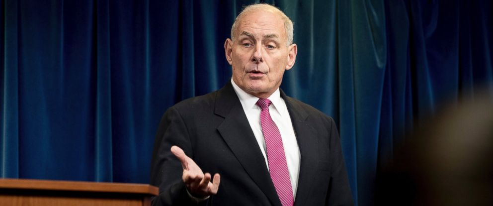PHOTO: Homeland Security Secretary John Kelly speaks at a news conference at the U.S. Customs and Border Protection headquarters in Washington, Jan. 31, 2017, to discuss the operational implementation of the presidents executive orders.
