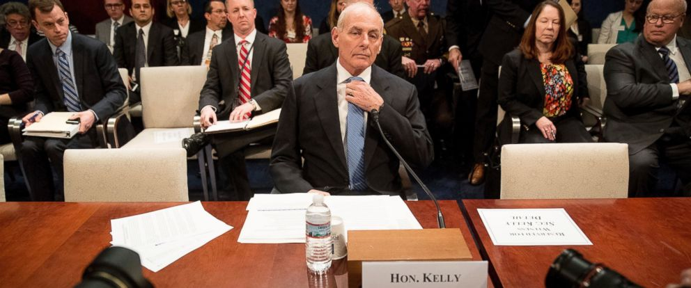 PHOTO: Homeland Security Secretary John Kelly prepares to testify on Capitol Hill in Washington, Feb. 7, 2017, before the House Homeland Security Committee hearing on border security.