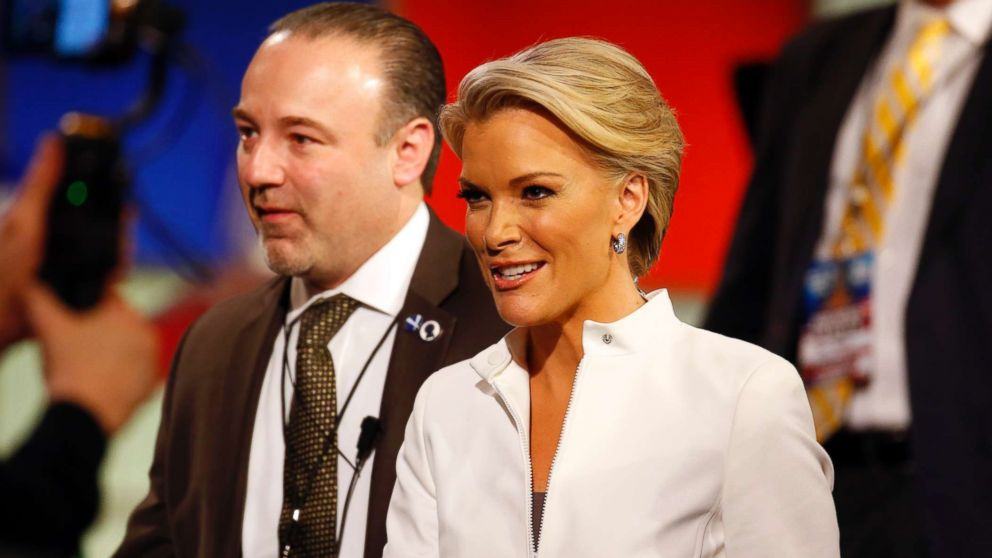 Moderator Megyn Kelly takes the stage during a Republican presidential primary debate at Fox Theatre, March 3, 2016, in Detroit.