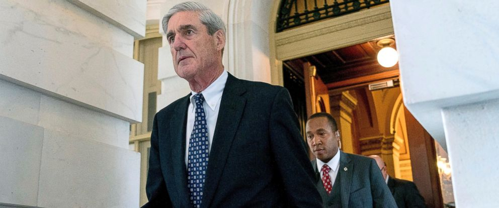 In this June 21, 2017, file photo, former FBI Director Robert Mueller, the special counsel probing Russian interference in the 2016 election, departs Capitol Hill following a closed door meeting in Washington.