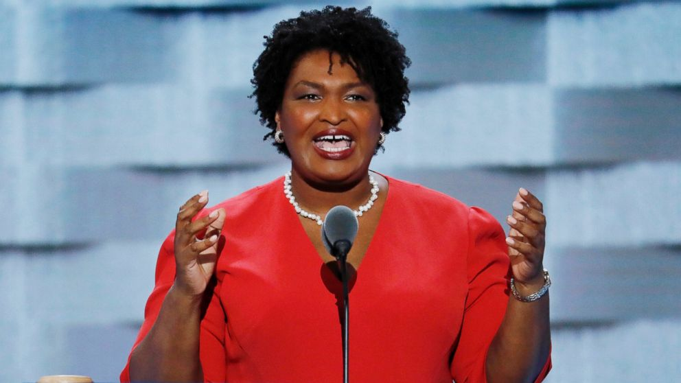 Former Georgia House Minority Leader Stacey Abrams, a Democrat, is hoping to become the country's first black woman governor.