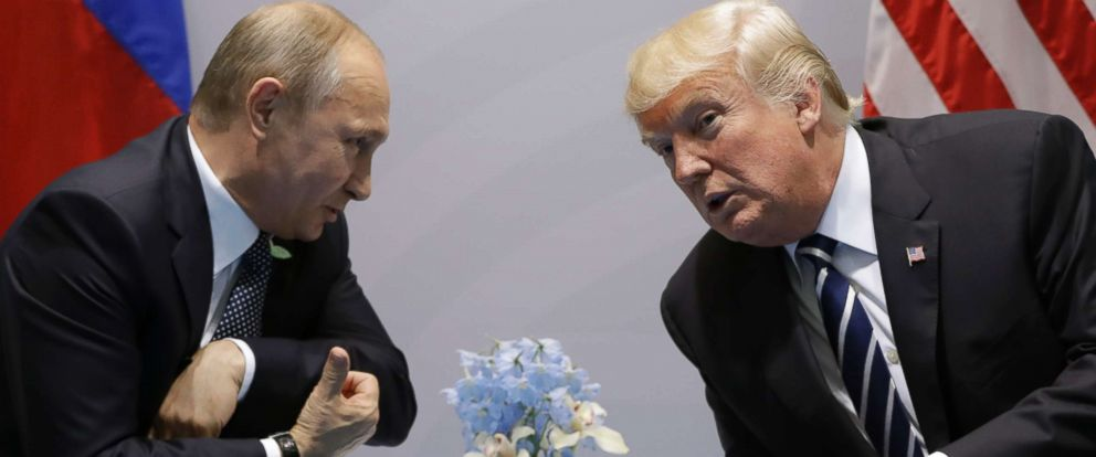 Image result for Donald Trump with Putin, G20, photos