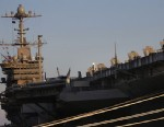 PHOTO: The USS Harry S. Truman is photographed, Wednesday, Feb. 6, 2013 at Naval Station Norfolk in Norfolk, Va.