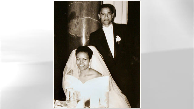 PHOTO: President Barack Obama and Michelle Robinson on their wedding day, Oct. 18, 1992, in Chicago.