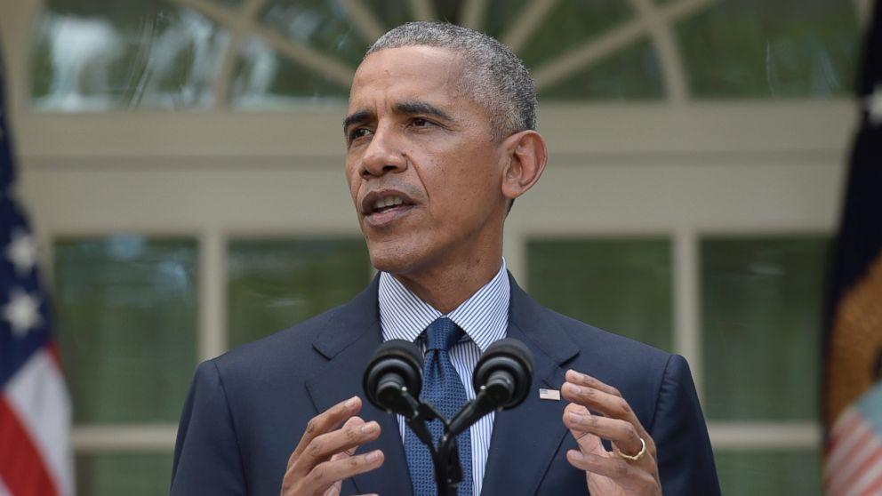 President Barack Obama speaks in the Rose Garden of the White House in Washington, Oct. 5, 2016.