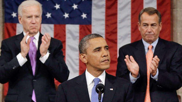 PHOTO: Joe Biden, Barack Obama and John Boehner
