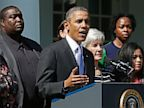 PHOTO: President Obama, HHS Secretary Kathleen Sebelius during press conference
