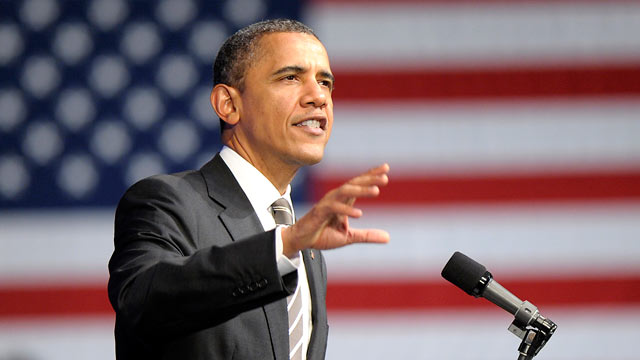 PHOTO: Pres. Barack Obama speaks at the Nob Hill Masonic Center in San Francisco, Calif. Feb. 16, 2012.
