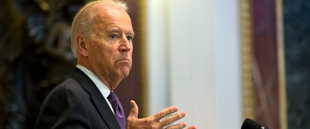 PHOTO: Vice President Joe Biden speaks about Domestic Violence Awareness Month, Thursday, Oct. 15, 2015, in the Indian Treaty Room of the Eisenhower Executive Office Building on the White House complex in Washington.