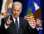 PHOTO: Vice President Joe Biden speaks about gun legislation on April 9, 2013, in the Eisenhower Executive Office Building at the White House in Washington.