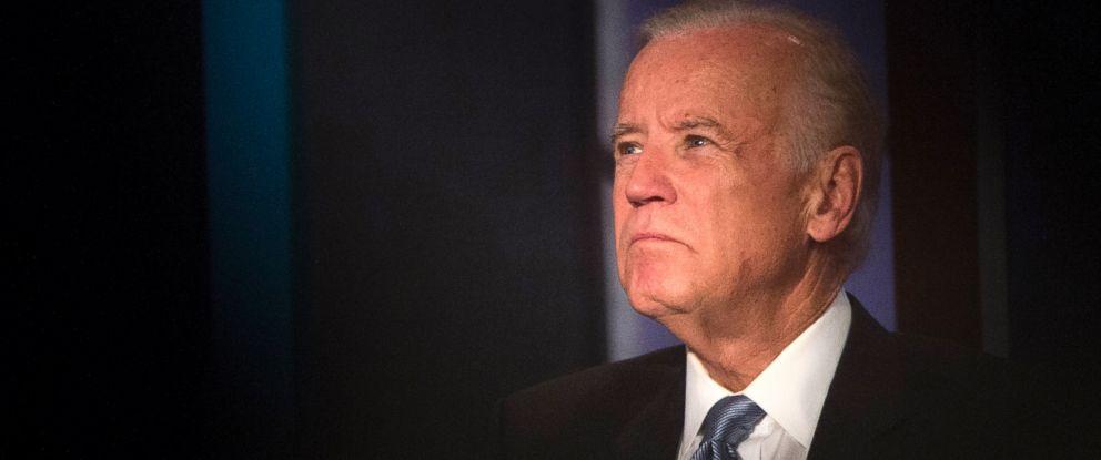 PHOTO: Vice President Joe Biden participates in a tribute to former Vice President Walter Mondale, Oct. 20, 2015, at George Washington University in Washington.