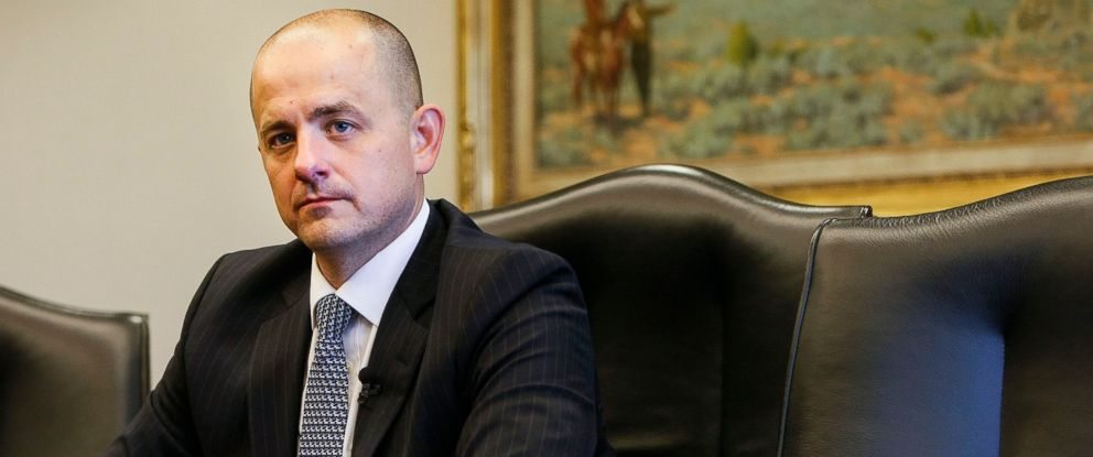 PHOTO: Evan McMullin, whos running for as an independent presidential bid, talks with the Deseret News and KSL editorial board in Salt Lake City, Utah, Aug. 10, 2016.