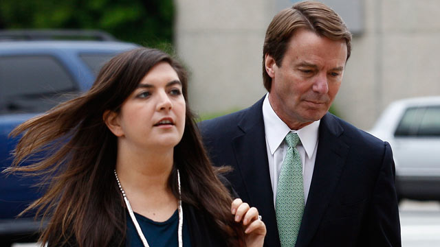 PHOTO: Former presidential candidate and Sen. John Edwards and his daughter, Cate Edwards, arrive at a federal courthouse in Greensboro, N.C., on May 9, 2012 in this file photo.
