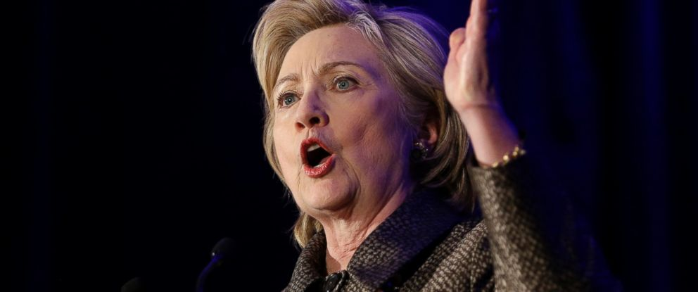 PHOTO: Democratic presidential candidate Hillary Clinton speaks during the 2015 National Immigration Integration Conference in New York, Monday, Dec. 14, 2015.