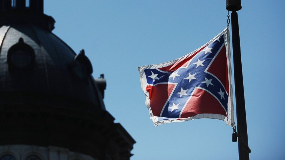 The Confederate flag flies near the South Carolina Statehouse, June 19, 2015, in Columbia, S.C.