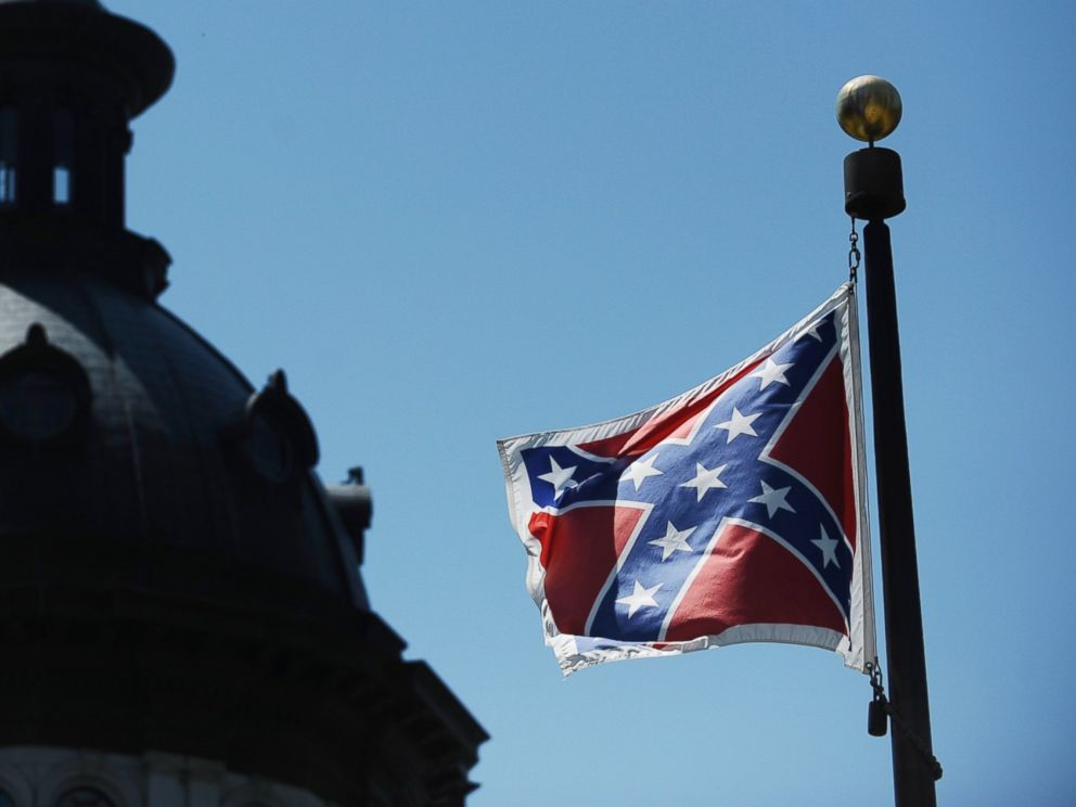 PHOTO: The Confederate flag flies near the South Carolina Statehouse, June 19, 2015, in Columbia, S.C.