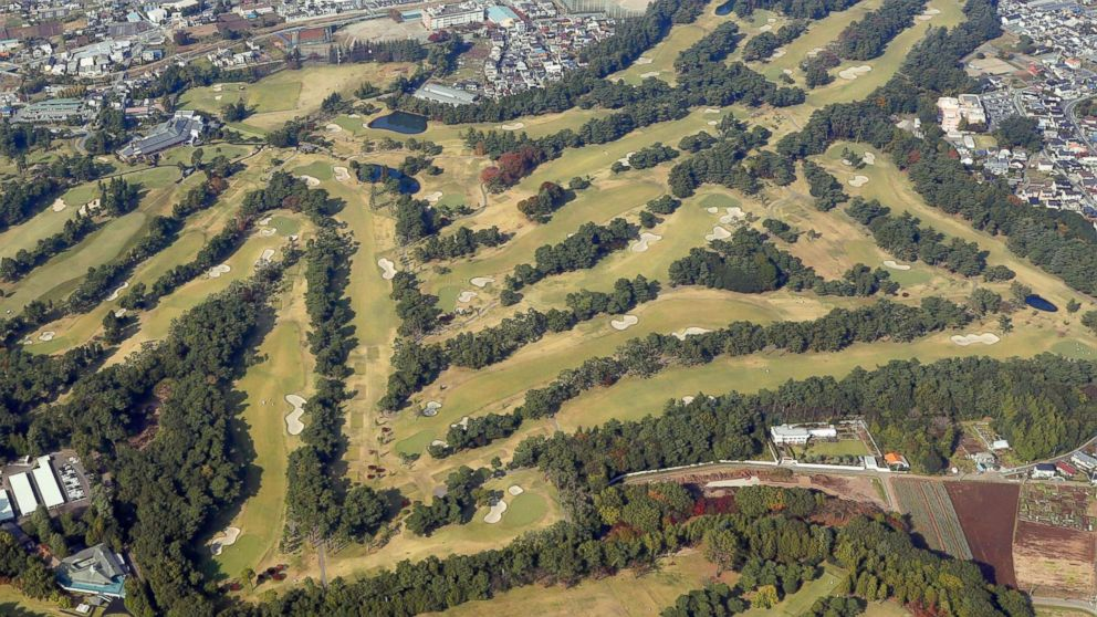 Photo taken Nov. 2, 2017, from a Kyodo News helicopter shows Kasumigaseki Country Club in Kawagoe, Saitama Prefecture, where U.S. President Donald Trump is scheduled to play a round of golf with Japanese Prime Minister Shinzo Abe and PGA Tour player Hideki Matsuyama on Nov. 5.