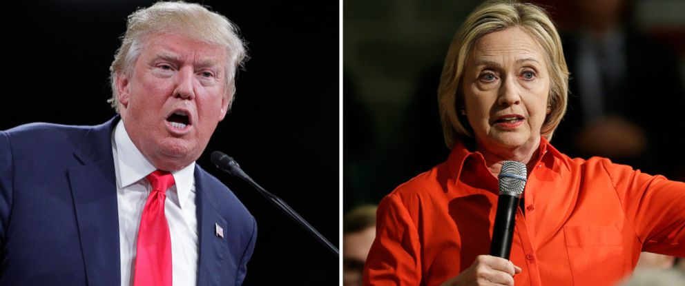 PHOTO: Donald Trump speaks in Knoxville, Tenn. on Nov. 16, 2015 and Hillary Clinton speaks in Grinnell, Iowa on Nov. 3, 2015.