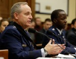 PHOTO: Air Force Chief of Staff Gen. Mark Welsh III, left, and Air Force Gen. Edward Rice, Jr., testifies on Capitol Hill in Washington, Jan. 23, 2013, before a House Armed Services Committee hearing on sexual misconduct by basic training instructors at L
