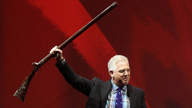 PHOTO: Glenn Beck speaks during the NRA convention at the George R. Brown Convention Center Saturday, May 4, 2013, in Houston.