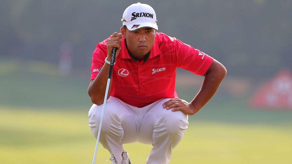 Hideki Matsuyama of Japan lines up his shot during the 2017 WGC-HSBC Champions golf tournament held at the Sheshan International Golf Club in Shanghai, China, Friday, Oct. 27, 2017.