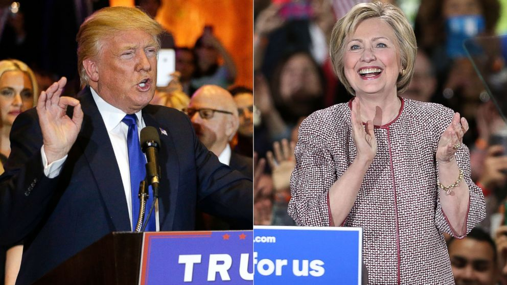 Ysis Hometown Wins Boost Donald Trump And Hillary Clinton Abc News
