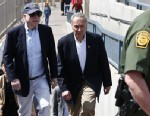 PHOTO:U.S. Sen. John McCain, R-Ariz., left, and Sen. Chuck Schumer, D-N.Y., tour the Nogales port of entry during their tour of the Mexico border with the United States on Wednesday, March 27, 2013, in Nogales, Ariz.