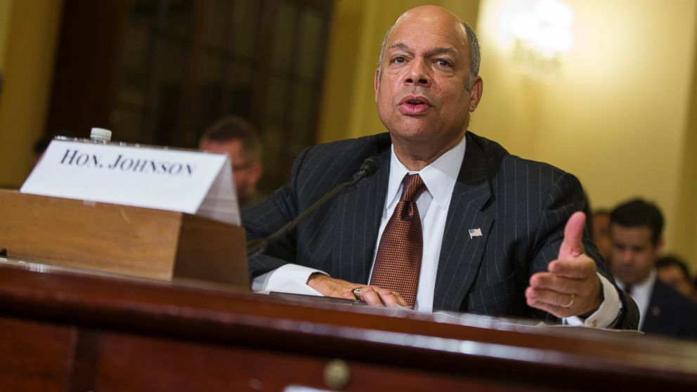 Homeland Security Secretary Jeh Johnson testifies on Capitol Hill in Washington, in this Dec. 2, 2014 file photo.
