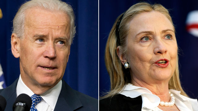PHOTO: Vice President Joe Biden speaks about proposals to reduce gun violence, Jan. 16, 2013, in the South Court Auditorium at the White House in Washington. U. S. Secretary of State Hillary Rodham Clinton speaks during a news conference at the annual Aus