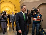 PHOTO: House Speaker John Boehner of Ohio arrives on Capitol Hill in Washington, Jan. 1, 2013, as legislation to negate a fiscal cliff of across-the-board tax increases and sweeping spending cuts moves to the GOP-dominated House following a bipartisan, mi