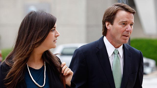 PHOTO: Former presidential candidate and Sen. John Edwards and his daughter Cate Edwards arrive at a federal courthouse in Greensboro, N.C., Wednesday, May 9, 2012.