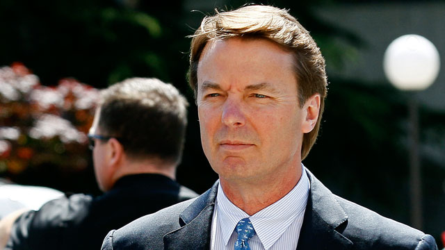 PHOTO: Former presidential candidate and U.S. Sen. John Edwards arrives outside federal court following a lunch break in Greensboro, N.C., April 12, 2012, where jury selection is underway in his criminal trial on alleged campaign finance violations.