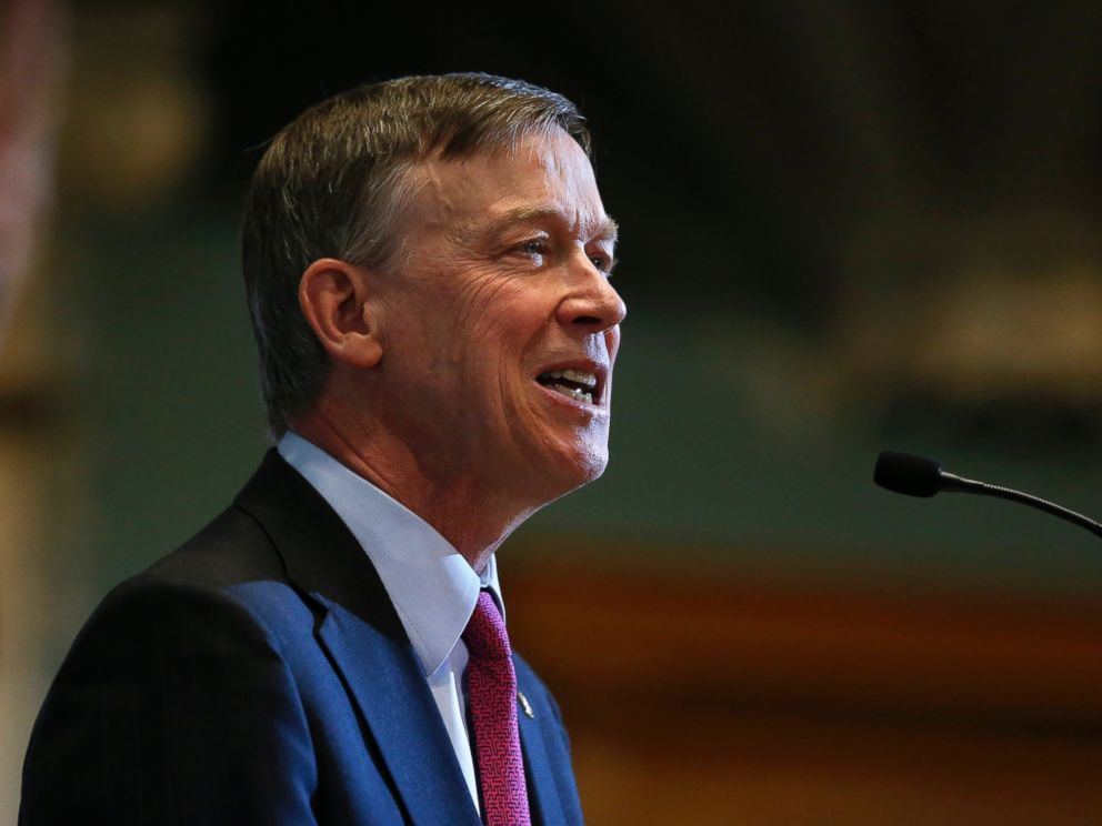 PHOTO: Colorado Gov. John Hickenlooper delivers his annual State of the State address to lawmakers and guests, inside the state legislature, in Denver, Jan. 14, 2016.