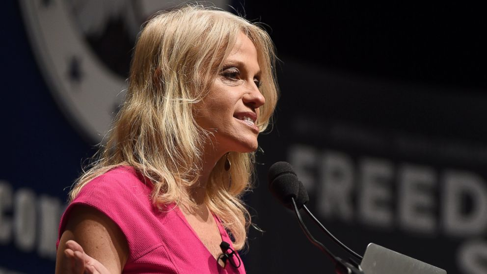 Kellyanne Conway speaks at the Freedom Summit, in Greenville, South Carolina, May 9, 2015.