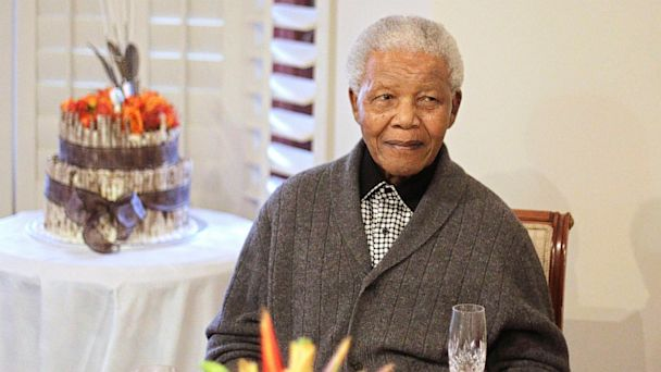 PHOTO: Former South African President Nelson Mandela celebrates his birthday with family in Qunu, South Africa on July 18, 2012.