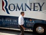 PHOTO: Mitt Romney walks to his bus after a campaign stop in Council Bluffs, Iowa, June 8, 2012.